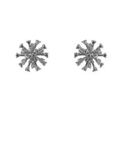 Cercei argint Amely cu zirconii albe
