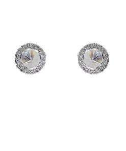 Cercei argint Selena cu zirconii albe