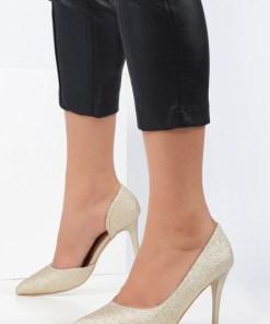 Pantofi stiletto Alvadia Aurii
