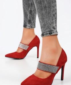 Pantofi stiletto Amelie Rosii