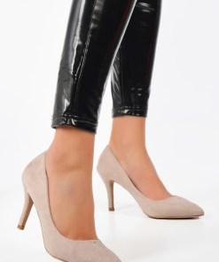 Pantofi stiletto Aruana Bej