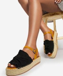Sandale dama Malvina Negre