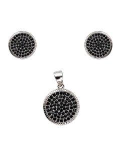 Set argint black dots winding