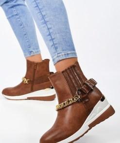 Sneakers High-Top Gordana Camel