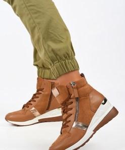 Sneakers High-Top Mavira Camel