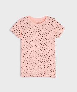 Sinsay - Tricou cu buline - Roz