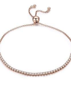 Bratara din argint Sparkling Tennis rose gold
