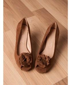 Pantofi Dama Cu Toc Night To Music Brown