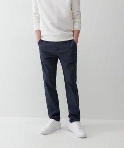 Reserved - Pantaloni chino de bumbac - Bleumarin