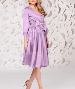 Rochie de ocazie Pretty Girl violet cu croi in clos