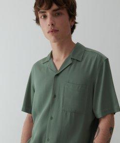 Reserved - Cămașă comfort fit din viscoză - Verde