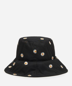 House - Pălărie cloș cu imprimeu cu margarete - Negru