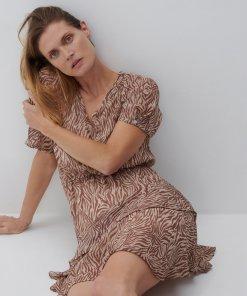 Reserved - Rochie cu model - Bej