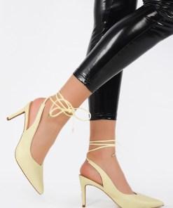 Pantofi cu toc Dorinia Galbeni