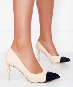 Pantofi cu toc Fabiola Bej