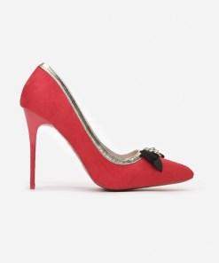 Pantofi cu toc Selinia Rosii