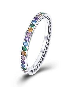 Inel din argint Rainbow Ring