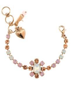 Bratara placata cu Aur roz de 24K, cu cristale Swarovski, Tiara Day   4156/2-2333RG