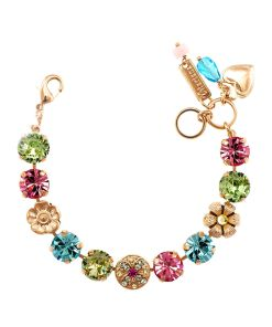 Bratara placata cu Aur roz de 24K, cu cristale Swarovski, Spring Flowers   4308-2141RG