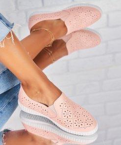Pantofi Casual Piele Ecologica Roz Noel X4391