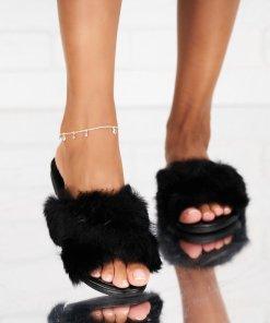 Papuci/Slapi Textil Negri Willow X5295