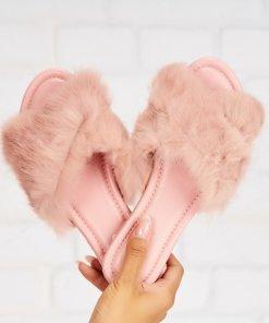 Papuci/Slapi Textil Roz Willow X5296