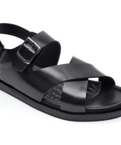 Sandale OTTER negre, 101, din piele naturala
