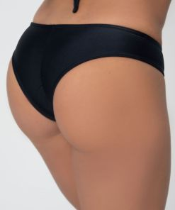 Slip negru brazilian costum de baie