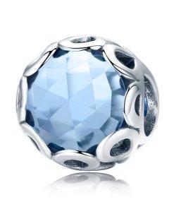 Talisman din argint Dark Blue Abyss