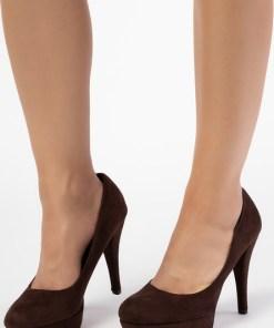 Pantofi cu toc Edela Maro