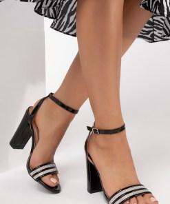 Sandale cu toc Medison Negre