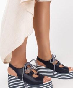 Sandale piele naturala Lucille Navy