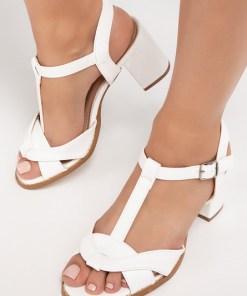 Sandale cu toc Manoela Albe