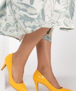 Pantofi cu toc Melanie Galbeni