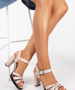 Sandale cu toc Lucita Roz