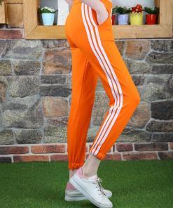 Pantaloni trening portocalii pentru dama-cod HP248
