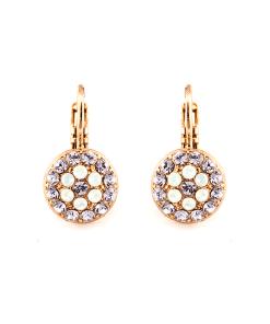 Cercei placati cu Aur roz de 24K, cu cristale Swarovski, Elizabeth | 1416-M83371RG6