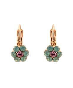 Cercei placati cu Aur roz de 24K, cu cristale Swarovski, California Dreaming | 1166/1-806RG6