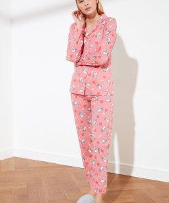 Pijama de bumbac cu pisici 3449983