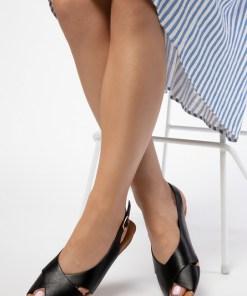 Sandale dama Velda Negre