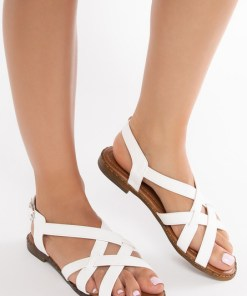 Sandale dama Talina Albe