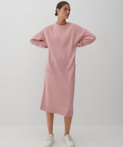 Reserved - Rochie din tricot - Roz