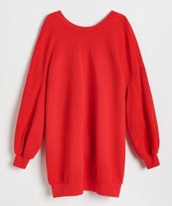 Reserved - Rochie din tricot - Roșu