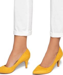 Pantofi dama Dafni, Galben