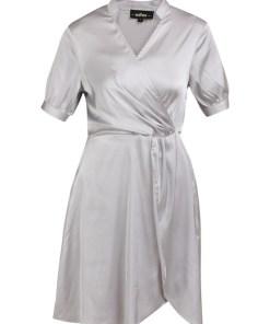 usha BLACK LABEL Rochie tip bluză  argintiu