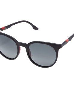 Ochelari de soare unisex Polarizen FC03-05 C.01F M.BLACK WITH RED