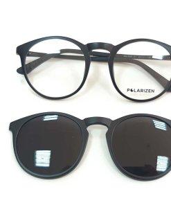 Rame ochelari de vedere unisex Polarizen CLIP-ON AA1003 C1 Black