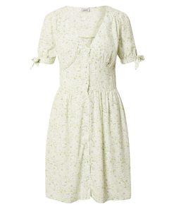 Pimkie Rochie de vară 'TORI'  verde deschis / alb