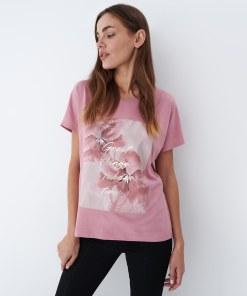 Mohito - Tricou cu imprimeu - Roz