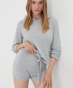 Sinsay - Pijama din două piese - Gri deschis